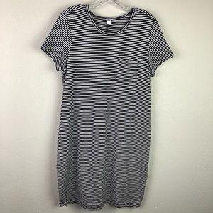 Old Navy BW Striped T-shirt Dress Sz L